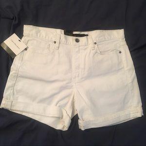 White Calvin Klein Jean shorts with cuff